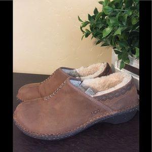 Ugg's Leather Slip on Clogs
